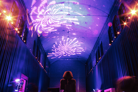 fireworks help light up the night at this wedding reception at the penn museum of anthropology